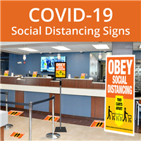 COVID-19 Social Distancing Signs